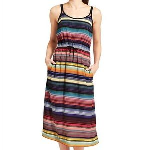 Athleta Havana multicolor stripe dress size Large